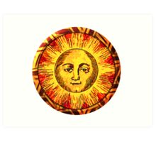 Round Sun Art Print