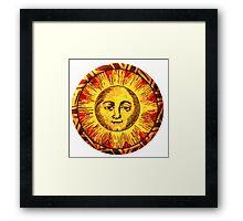 Round Sun Framed Print