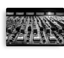 Sound board / Console de son Canvas Print