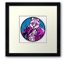 fiddle Fox Round Framed Print