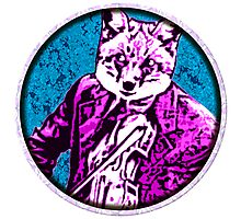 fiddle Fox Round Photographic Print