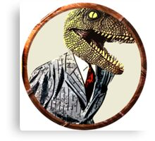 Dinosaur in a suit Canvas Print