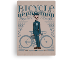 Bicycle Repairman Canvas Print
