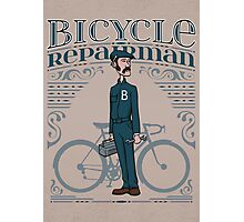 Bicycle Repairman Photographic Print