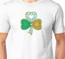 Shamrock and Heart Design Unisex T-Shirt