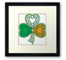 Shamrock and Heart Design Framed Print