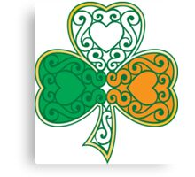 Shamrock and Heart Design Canvas Print