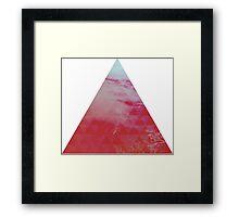 Red Pyramid landscape geometric Framed Print