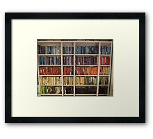 Bookcase Colours Bright Framed Print