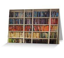 Bookcase Colours Bright Greeting Card
