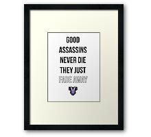 A Good Assassin Framed Print