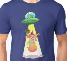 Santa Claus Abducted by a UFO just before Christmas Unisex T-Shirt