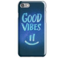 Good Vibes - Funny Smiley Statement / Happy Face (Blue Stars Edit) iPhone Case/Skin