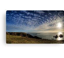 The Sun over the Gannet Rocks Canvas Print