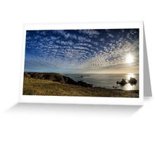 The Sun over the Gannet Rocks Greeting Card