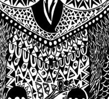 Owl Aztec Design Art  Sticker