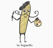 la baguette French bread cartoon Kids Tee
