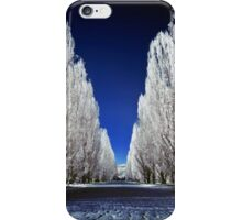 An alley in infrared iPhone Case/Skin