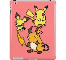 Pichu, Pikachu and Raichu iPad Case/Skin