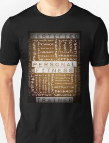 Certified Personal Fitness Trainer Wordcloud T-Shirt