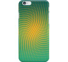Polka dots with a twist orange and green op-art iPhone Case/Skin