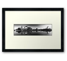 Salford Quays Panorama (B&W) Framed Print