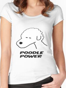 Poodle Power Women's Fitted Scoop T-Shirt