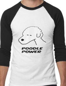 Poodle Power Men's Baseball ¾ T-Shirt