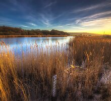 Bembridge Lagoons Sunset by manateevoyager