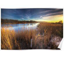Bembridge Lagoons Sunset Poster