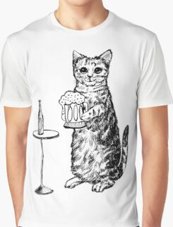 Real Cat Love Beer Graphic T-Shirt