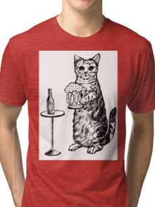 Real Cat Love Beer Tri-blend T-Shirt