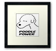 Poodle Power Framed Print