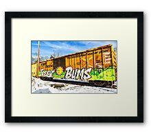 Freight Bums Framed Print