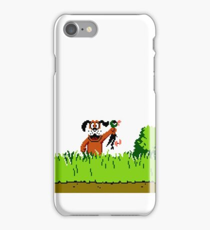 Duck Hunt Dog with Duck iPhone Case/Skin
