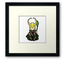 Loki, the trickster Framed Print