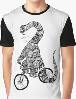 Brontosaurus Love Pipe  Graphic T-Shirt