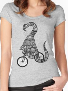 Brontosaurus Love Pipe  Women's Fitted Scoop T-Shirt