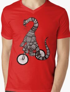 Brontosaurus Love Pipe  Mens V-Neck T-Shirt