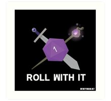 Roll With It Logo Art Print