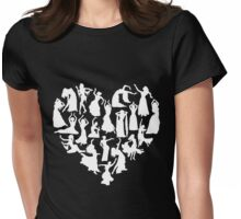 Belly Dance Heart Tshirt Womens Fitted T-Shirt