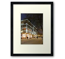 winter streetscape Framed Print