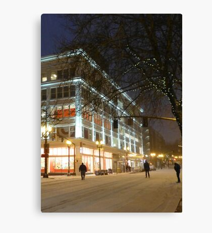 winter streetscape Canvas Print