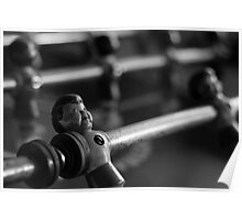 Foosball Player Black and White Poster