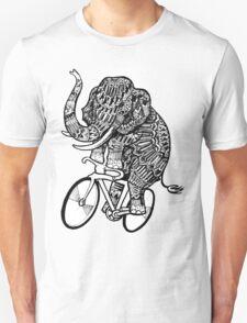 Elephant Aztec on a Bicycle  Unisex T-Shirt