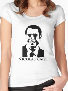Nicolas Cage - Face/Off Women's Fitted Scoop T-Shirt