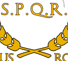 S.P.Q.R. Latin Sticker
