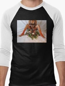 Erotic Worship Yoga  Men's Baseball ¾ T-Shirt