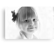 Portrait in Black And White Canvas Print