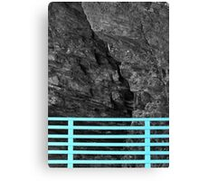 Bench Back, Rock Face Canvas Print